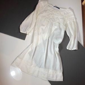 Zara Sheer White Victorian Inspired Dress